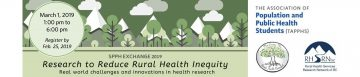 Join the conversation on reducing rural health inequity at the 2019 SPPH Exchange